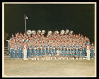 Over 100 African American youth in a school marching band, Columbus, 1960-1990