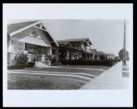 Houses on West 35th St. near Western, Los Angeles, undated