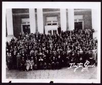 Alpha Phi Alpha Fraternity and Delta Sigma Theta Sorority honor the Matilda Dunbar, the mother of Paul Laurence Dunbar, Dayton, 1923
