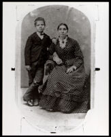 Joseph Blackburn Bass as a young boy with his mother, Susan Bass, Topeka, Kansas, 1870-1880