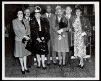 Jessie Vann on a visit the Pilgrim House, Los Angeles, circa 1948-1952