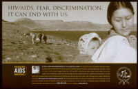 HIV/AIDS. Fears. Discrimination. It can end with us [inscribed].