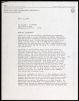 Letter to Eugene Lasartemay from Arthur M. Robinson, 1976