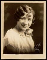Portrait of Edythe Thompson Kemp, a friend of the Miriam Matthews family, 1926