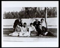 African American couples in a park, Pasadena, circa 1920