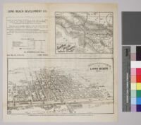 Map of the city of Long Beach, Los Angeles County, California