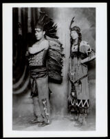 Thomas L. Johnson and Alice Reed in costume for Hiawatha's Wedding Feast at the Trinity Hotel, Los Angeles, 1917