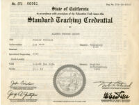 State of California Standard Teaching Credential