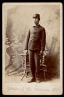 Leon F. Marsh, Sr. when he was in the 25 infantry at age 17, Galveston, circa 1898