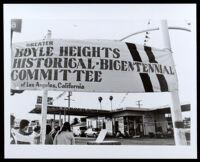 People attending the installation of the plaque marking the location SE corner of El Pueblo Nuestra Señora La Reina De Los Angeles, Boyle Heights (Los Angeles), 1980