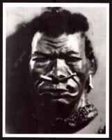 Papier mâché mask by Beulah Woodard, circa 1937