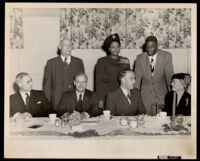 Reverend Harold M. Kingsley, Carol Brice, Jackie Robinson, G. Raymond Booth and John Anson Ford, Los Angeles, 1943-1953