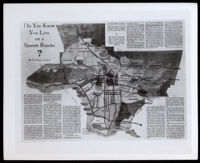 Map showing the location of the Spanish and Mexican Ranchos in Los Angeles County, 1931