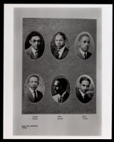 Portraits of Alpha Phi Alpha Fraternity members in the El Rodeo yearbook, Los Angeles, 1925