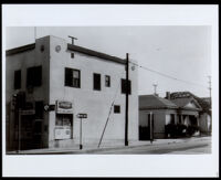 Commercial building owned by John Martin Scott and Margaret D. Scott, Los Angeles (undated)