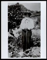 Manuel Moreno at the age of 80, grandson of Los Angeles founder Jose Cesario Moreno, Los Angeles, 1905