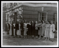 Mabel V. Gray with 12 other women, 1940s (?)