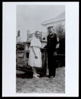 James Rufus Portwig in his Navy uniform with Emily Brown Childress Portwig, 1940-1945