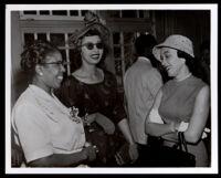 Sisters Gloria and Patricia Roberts at a gathering, Los Angeles, circa 1959