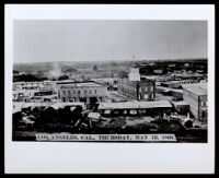 Partial view of Los Angeles in the area of San Pedro St., from an elevation, 1869
