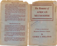 Book Jacket for The Romance of African Methodism by George Singleton