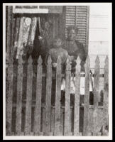 Biddy Mason and others at the house of Robert Owens, Sr., First and Los Angeles St., Los Angeles, circa 1870