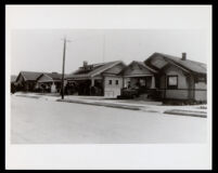 Houses on West 35th St., Los Angeles, undated