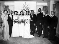 Wedding of Gwen Jones and Dr. John F. Simmons, Los Angeles, 1941