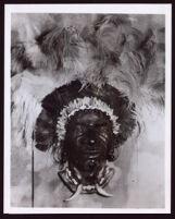 """Kenya Chief,"" papier  papier mâché mask by Beulah Woodard, circa 1935"
