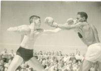 Young Alfred T. Quinn boxing