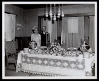 Thirty-fifth wedding anniversary of Drs. John and Vada Somerville, Los Angeles, 1947