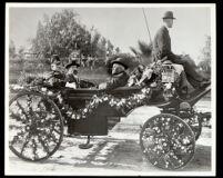 Carriage at the Tournament of Roses Parade, Pasadena, 1902