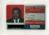 Alfred Thomas Quinn Santa Monica College Faculty card