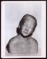 Clay bust of Charles H. Matthews, Jr. by Beulah Woodard, 1954