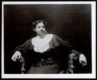 George T. Dunlap's sister (?), Sacramento, 1890-1900