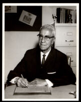 Lloyd Dickey, superintendent of the Willowbrook School District, Los Angeles, 1966