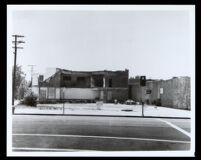 First African Methodist Episcopal Church at 8th St. and Towne Ave., after it was destroyed by fire, Los Angeles, 1972