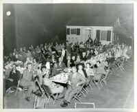 Reception for Mr. and Mrs. R. C. Somerville hosted by Drs. Vada and John Somerville, Los Angeles,1950s (?)