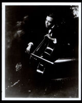 William Grant Still playing a cello, New York, 1919