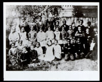 Class portrait of students in Ungraded School Number Two, Sacramento, 1882