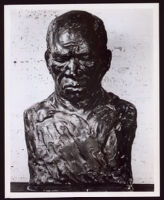 """Sharecropper,"" clay bust by Beulah Woodard, 1935-1955"