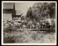African American church congregation, Pasadena, 1890-1910