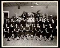 Members of the Beta Sigma Zeta chapter of the Zeta Phi Beta Sorority, Tampa, 1950