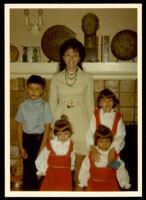 Judith Anne Still Headlee with her children, Daniel, Lisa, Coleen and Celeste, 1971