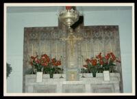 Altar of St. Matthias Episcopal Church at Christmas, Los Angeles, circa 1960-1963