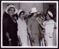 League of Allied Arts honoring recent retirees, Pauline Slater, Juanita Miller and Angelique Bratton, Los Angeles, 1964