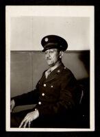 Calvin B. Harper in military uniform during WWII, 1941-1945