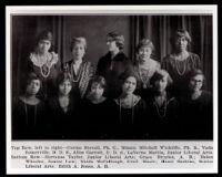 Group portrait of 10 Alpha Kappa Alpha women, Los Angeles, 1920-1930