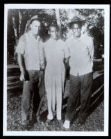 Jackie Robinson with two others, circa 1940