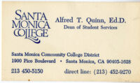Alfred Thomas Quinn business card